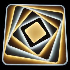 Plafoniera LED / Lustra LED cu Telecomanda ,efect 3D, patrata