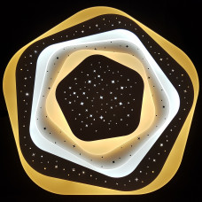 Plafoniera LED / Lustra LED cu Telecomanda ,efect 3D, 5 laturi, stelute