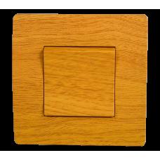 BASIC Intrerupator simplu lemn deschis Elmark