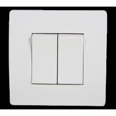 BASIC Intrerupator dublu alb Elmark