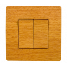BASIC Intrerupator dublu lemn deschis Elmark