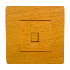 BASIC Priza telefon lemn deschis Elmark