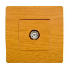 BASIC Priza TV lemn deschis Elmark