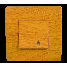 BASIC Intrerupator simplu cu led lemn deschis  Elmark