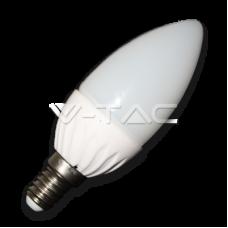 Bec LED lumanare 4W E14 CW 4166 V-TAC