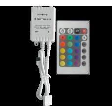 CONTROLER CU INFRAROSU LEDRGB 12V 6A 24 BUTOANE 99RGBCONTROL1
