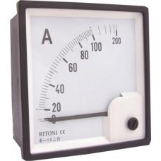 Ampermetru analogic cu masurare directa 96x96mm 100A Comtec