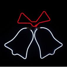 Clopotei cu funda interconectabili 360 led lumina alb rece/rosu cablu negru sistem profi DDN-1729