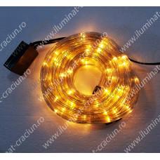 Cablu luminos LED alb cald rola 10 metri 3 fire