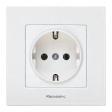 Priza simpla Panasonic KARRE Plus schuko 2P+E